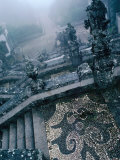 Heavy Fog Shrouds the Renaissance Stairway of the Roman Catholic Bom Jesus of Braga  Portugal