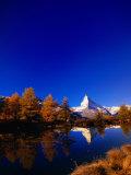 "Peak of the ""Matterhorn "" Zermatt  Valais  Switzerland"