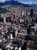 City Centre with South-Eastern Suburbs Visible in Background  Bogota  Colombia