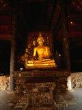 Sitting Gold Buddha Wat Phra That Lampang Luang  Lampang  Thailand