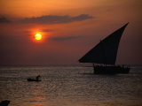 Dhow at Sunset  Tanzania