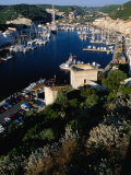 Boats in Harbour  Bonifacio  France