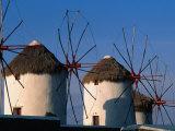 Windmills on the Island of Mykonons Mykonos Island  Greece