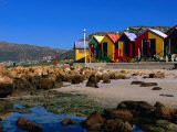 Victorian Bathing Huts  False Bay  St James  Cape Peninsula  South Africa