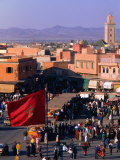 Djemaa El-Fna Square in Old Part of Town  Marrakesh  Morocco