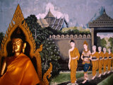 Images of Buddha and People at Wat Phra That Doi Suthep  Chiang Mai  Thailand