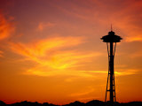 The Space Needle  Seattle  Washington  USA