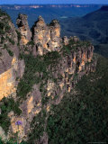 Three Sisters Rock Formation  Katoomba Blue Mountains National Park  New South Wales  Australia