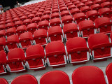 Seats Inside Soccer Stadium San Siro of Internazionale Milano and Ac Milano  Milan  Italy