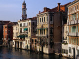 Grand Canal from Rialto Bridge Venice  Italy