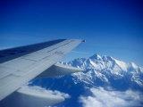 Aeroplane Wing Over Himalayas  Mechi  Nepal