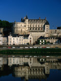 15th Century Chateau d&#39;Amboise and Loire River  Amboise  France