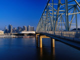 Taylor-Southgate Bridge on Ohio River with City in Background  Cincinnati  USA