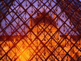 The Louvre Through It&#39;s Glass Pyramid  Paris  France