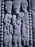 Stone Detail from 11th Century High Cross  Drumcliff  County Sligo  Ireland