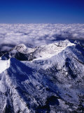 Aerial View of Summit of Mount Ruapehu  Tongariro National Park  New Zealand