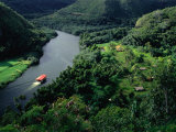 Riverboat on North Coast River  Kauai  Hawaii  USA