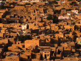 Aerial View of Old City from Fort  Jaisalmer  Rajasthan  India