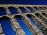 Roman Aqueduct Built in 1st Century AD  Segovia  Castilla-Y Leon  Spain