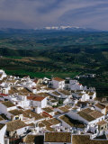 Village Rooftops and Distant Snow-Capped Mountains  Olvera  Andalucia  Spain
