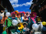 Children in Costume on Village Patron Saint's Day  Raquira  Boyaca  Colombia