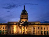 Exterior of Custom House at Dusk  Dublin  Ireland