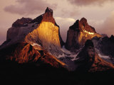 The Cuernos Del Paine (Horns of Paine) at Sunrise  Patagonia  Chile