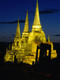 Wat Phra Sri Sanphet Built by King Ramathibodi I in the 14th Century  Ayuthaya  Thailand