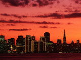 City at Sunset from Treasure Island  San Francisco  USA