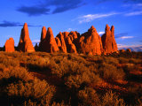 Eroded Sandstone Pinnacles and Fins  Arches National Park  Utah  USA