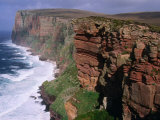 Old Red Sandstone Cliffs Toward St Johns Head  Hoy  Orkney Islands  Scotland