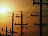 Power Lines at Dusk  Australia