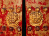 Weathered Doors of the Wanfung Art Gallery  Dongcheng  Beijing  China