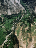 Aerial View of Gilgit Valley  Gilgit  Pakistan