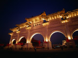 Chiang Kai Shek Memorial  Pavilion and Gates  Early Evening  Taipei  Taiwan