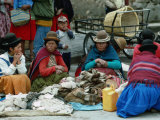 Aymara Indian Women Sitting Together  Puno  Peru
