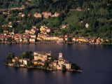 Isola San Guilio from Madonna Del Sasso  Milan  Italy