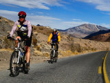 Cycling Towards Dante's View on the Ca 190  Death Valley  California  USA