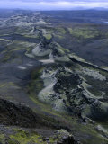 Crater Row from the 1783 Volcanic Eruptions  Sudurland  Iceland