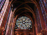 Rose Window in Upper Chapel of Saint Chapelle  Paris  France