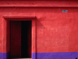 Painted Stucco House Facade  Momostenango  Totonicapan  Guatemala