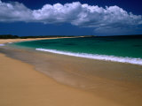 Popohaku Beach is the Longest Beach on Molokai's West End  Molokai  Hawaii  USA