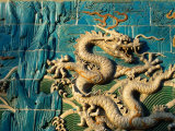 Detail of the Nine Dragon Screen in Beihai Park  Beijing  China