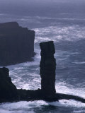 Old Man of Hoy Sandstone Stack (130M Tall)  Hoy  Orkney Islands  Scotland