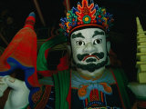Detail of Statue Outside Temple in Korean Folk Village  Suwon  Gyeonggi-Do  South Korea