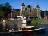 Boat in Front of Centraal Station  Amsterdam  Netherlands