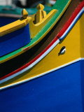 "Colourful ""Luzzu"" Fishing Boat with Eye of Protection  Marsaxlokk  Malta"