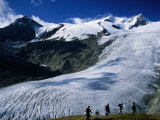 Schlaten Glacier on Grossvenediger Mountain from Alte Prager Hut  Hohe Tauren Nat Park Austria