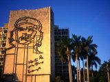 Sculpture of Che Guevara in the Plaza De La Revolucion  Havana  Cuba