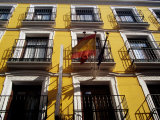 Wrought-Iron Balconies on City Buildings Facade  Madrid  Spain
